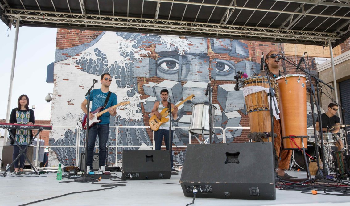 Hook Arts Media presents Red Hook Fest 2014 Dende and Band Performing