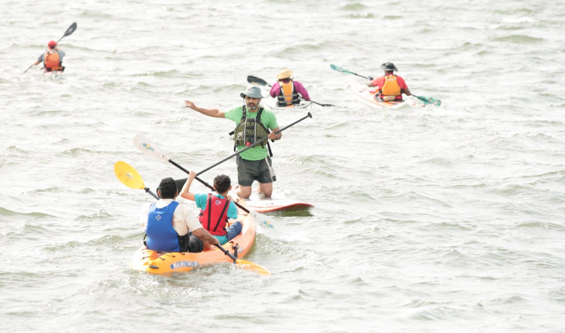 Kayaking activity at 2011 Red Hook Fest