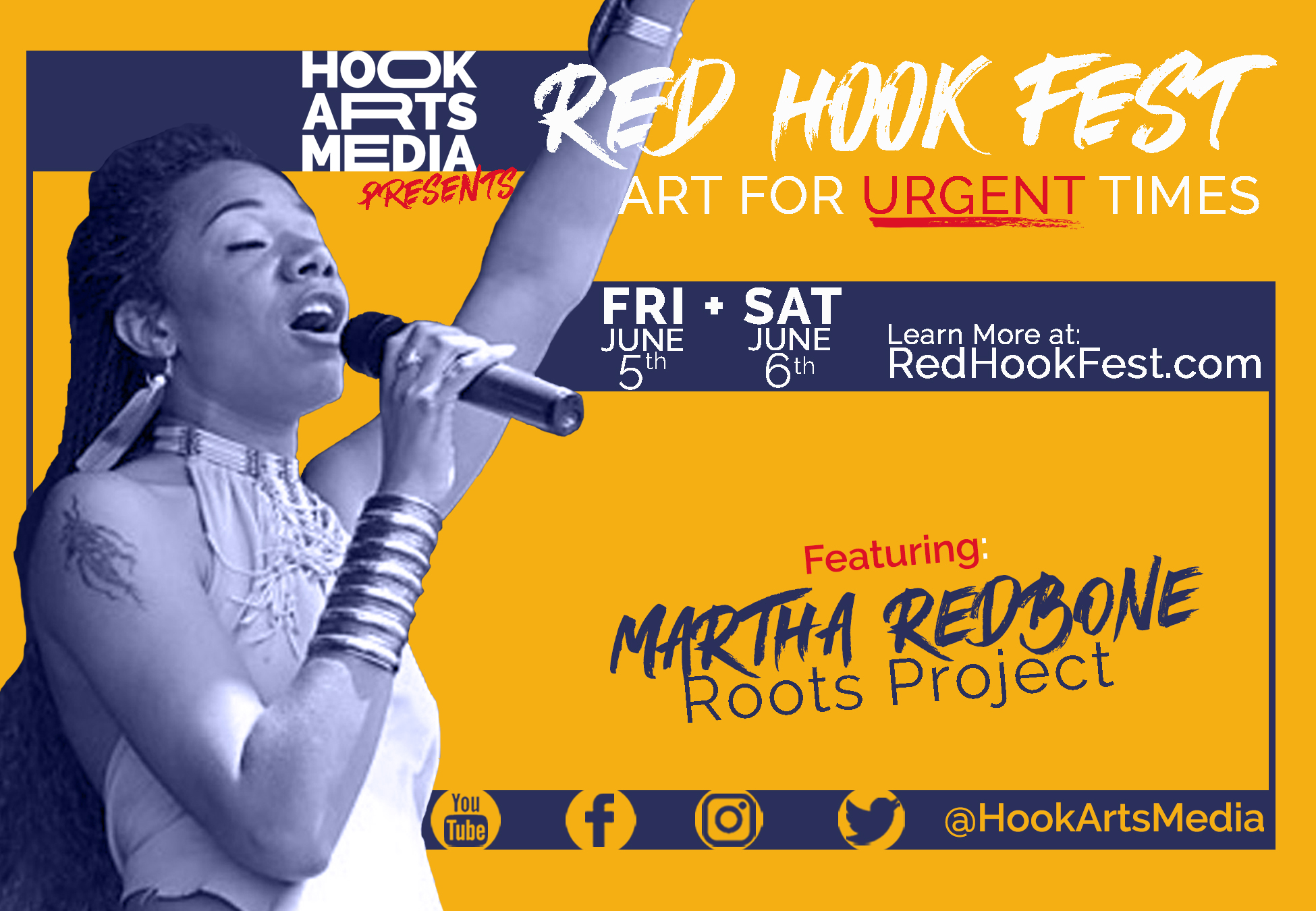 Martha Redbone Roots Project live in concert free Red Hook Fest 2020