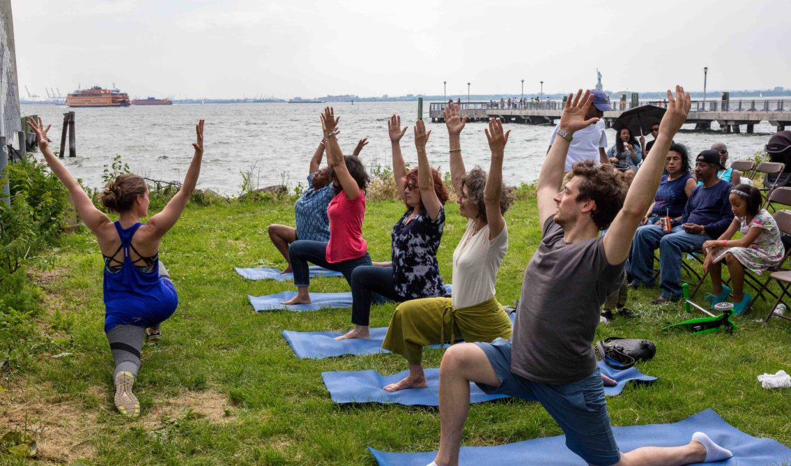 Hook Arts Media presents Red Hook Fest 2016 free yoga class activity